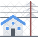 House Power Line Icon