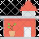 House Of Pot Pot In Home Garden Icon