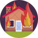 Fire House Emergency Icon