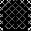 House Arrow Down Icon