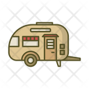 House On Wheels Mobile House Trailer Icon