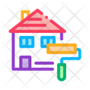 House Painting Building Icon