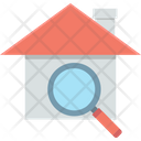 House Search Magnifying Glass Real Estate Icon