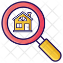 House Search Finding Home House Exploration Icon