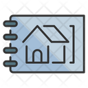 House Sketch Plan Home Plan Icon