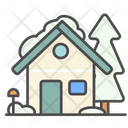 Winter House Home Icon