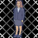 House Wife Employee Girl Icon
