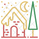 House Winter Christmas Icon
