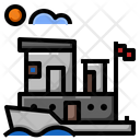 Houseboat Travel Water Icon