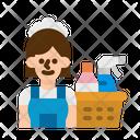Housekeeper Housekeeping Maid Icon