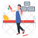 Household Services Housekeeping Home Cleaning Icon