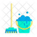 Bucket Mop Household Icon