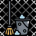 Mop Busket Hygiene Icon