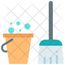 Clean Cleaning Mop Icon