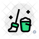 Housekeeping Mop Cleaning Icon
