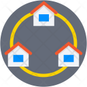 Houses Buildings Equity Icon