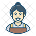 Housekeeper Home Cleaner House Maintenance Icon