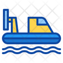 Hovercraft Transport Vehicle Rides Water Land Boat Icon
