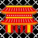 Hozomon Temple Tokyo City Icon