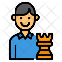 Strategy Seo Businessman Icon