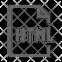 Html Programming Language Icon