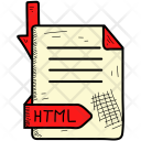 Html Document Format Icon