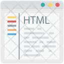 Html Coding Html Source Code Icon