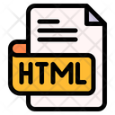Html File Type File Format Icon