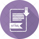Html Extension Document Icon