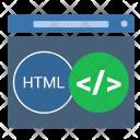 Html Window Code Icon