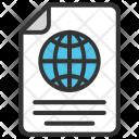 Internet Document Html Icon