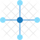 Hub Network Connection Icon