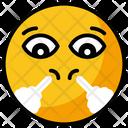 Huffing Emoji Icon