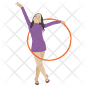 Hula Hoop Hula Hoop Workout Aerobics Icon