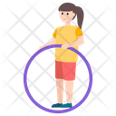 Hula Hoop Ring Game Outdoor Game Icon