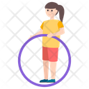 Hula Hoop Exercise Dance Icon