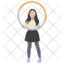 Hula Hoop Hula Hoop Workout Aerobics Icon