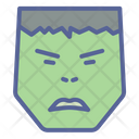 Superhero Character Angry Icon