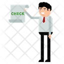 Businessman Document Check Icon