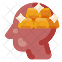 Human Head Gold Icon