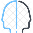 Human Mind Double Icon