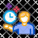 Human Fixed Clock Icon