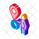 Human Location Outsource Icon