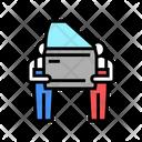Human Work Car Icon