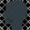 Human Head Teeth Icon