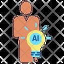 Ibulb Human Human Ai Idea Creative Ai Idea Icon