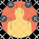 Human Anatomy based on Zodiac Signs Icon