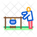 Human Boiling Nutrition Icon