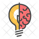 Human Brain Thinking Creative Idea Icon