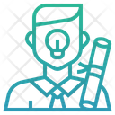 Human Capital Businessman Job Application Icon